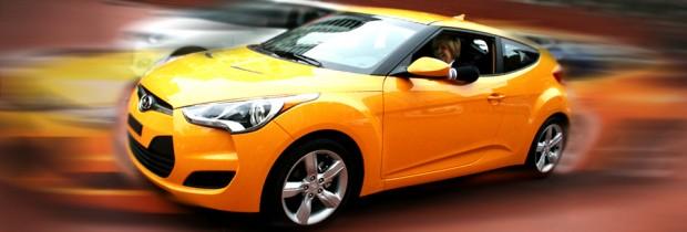 2012 Hyundai Veloster yellow