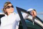 confident woman driver