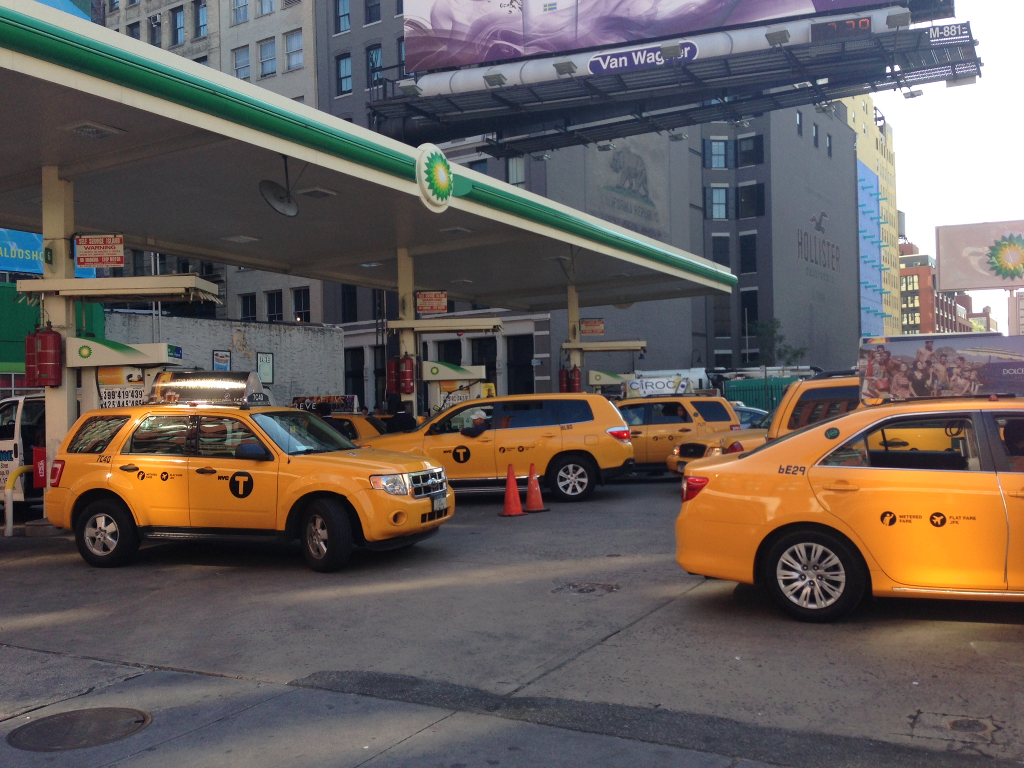 Yellow Cabs Gas Line