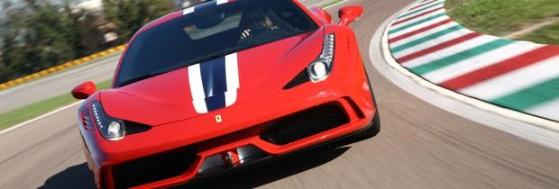 Tara driving f2014 Ferrari 485 Speciale