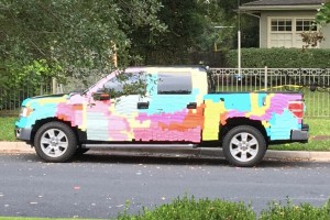 Post-it Note Car
